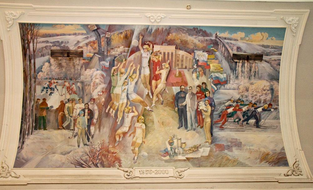 фреска в интерьере минск